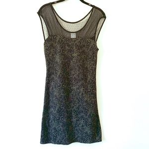 Black and gold free people starlight dress